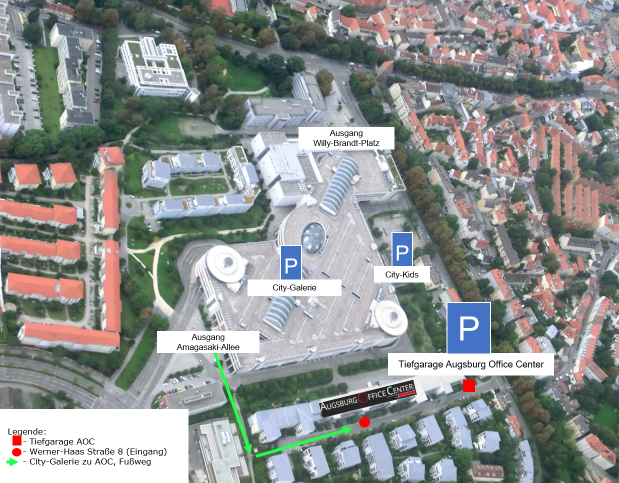 Augsburg Office Center Anfahrt Parken
